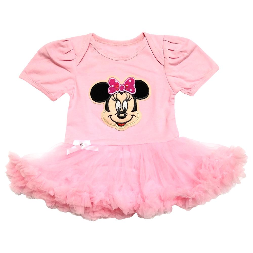 پیراهن نوزادی دخترانه طرح میکی موس کد M303