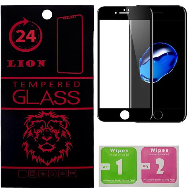 محافظ صفحه نمایش تمام چسب شیشه ای لاین مدل 5D مناسب برای گوشی اپل آیفون7