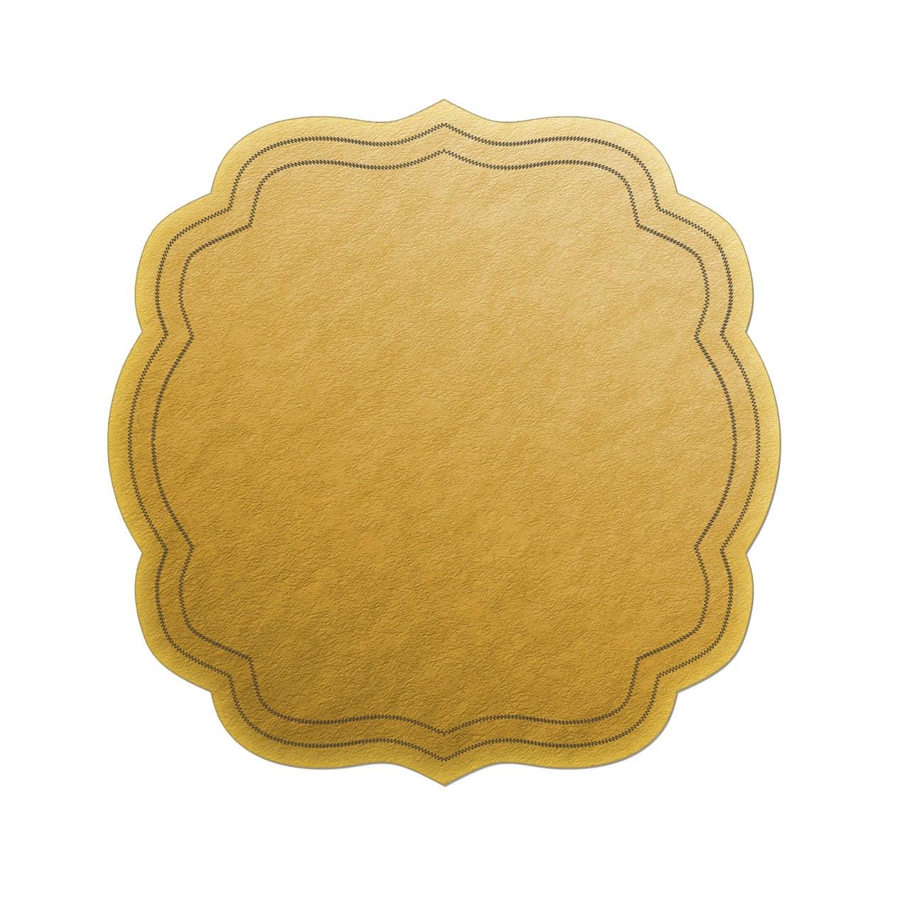 زیر بشقابی چرمی رومادون کد109 - بسته 6 عددی