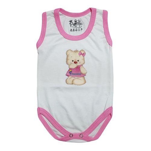لباس زیر دکمه دار آستین رکابی نوزادی برند پرنسس مدل PINK-08