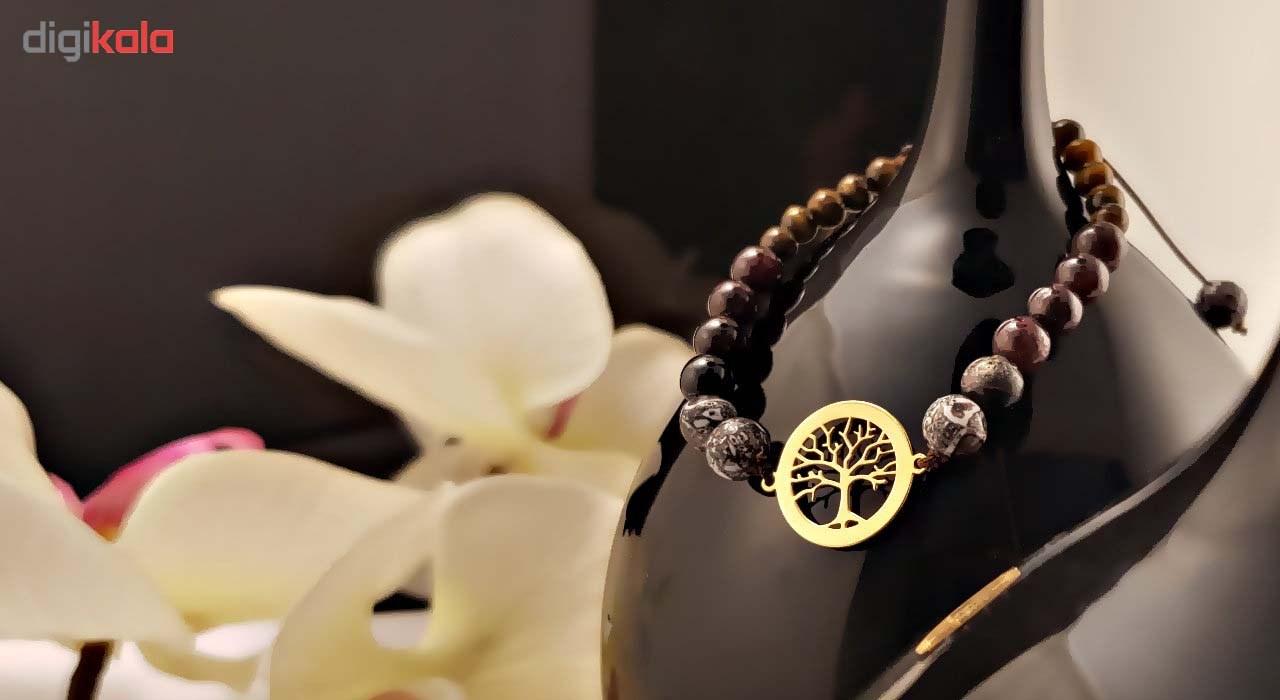 دستبند طلا 18 عیار گالری آمانژ مدل D131