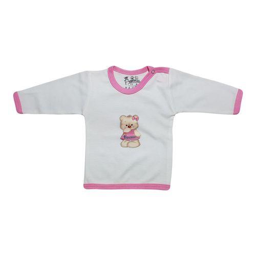 تی شرت آستین بلند نوزادی برند پرنسس مدل PINK-01