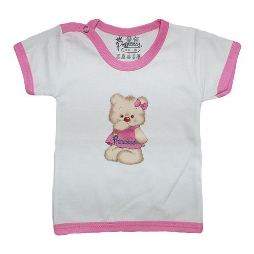 تی شرت آستین کوتاه برند نوزادی پرنسس مدل PINK-02