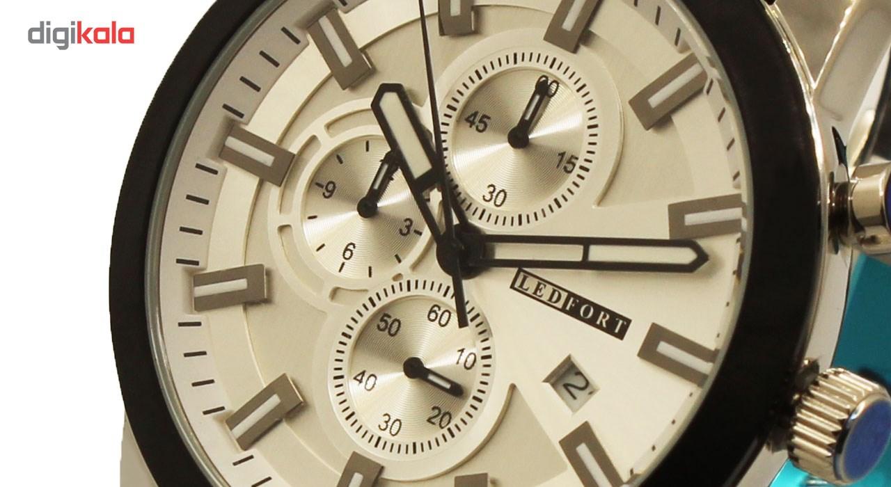 خرید ساعت مچی عقربه ای مردانه لدفورت مدل کرنوگراف کد MK-0037
