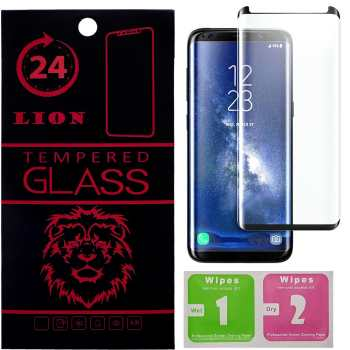 محافظ صفحه نمایش شیشه ای لاین مدل Short 3D مناسب برای گوشی سامسونگ S8 پلاس