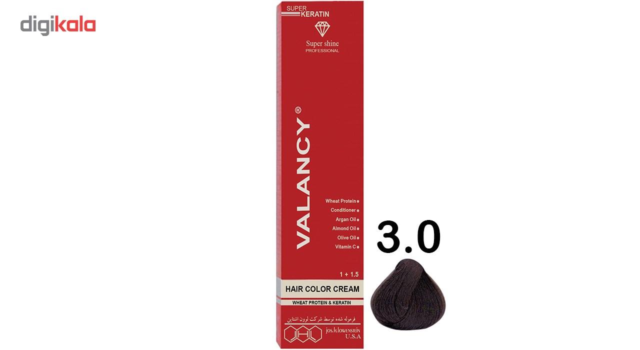 رنگ مو والانسی سری طبیعی مدل قهوه ای خیلی تیره شماره N2 main 1 1