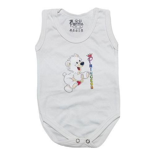 لباس زیر دکمه دار آستین رکابی نوزادی برند پرنسس مدل WHITE-08
