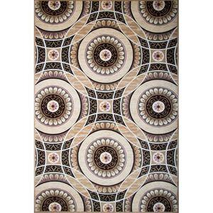 فرش ماشینی ساوین طرح باربد زمینه شکلاتی