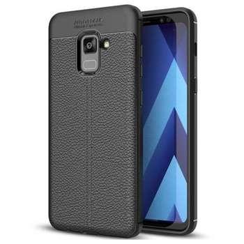 کاور ژله ای طرح چرم مناسب برای گوشی موبایل سامسونگ Galaxy A8 2018