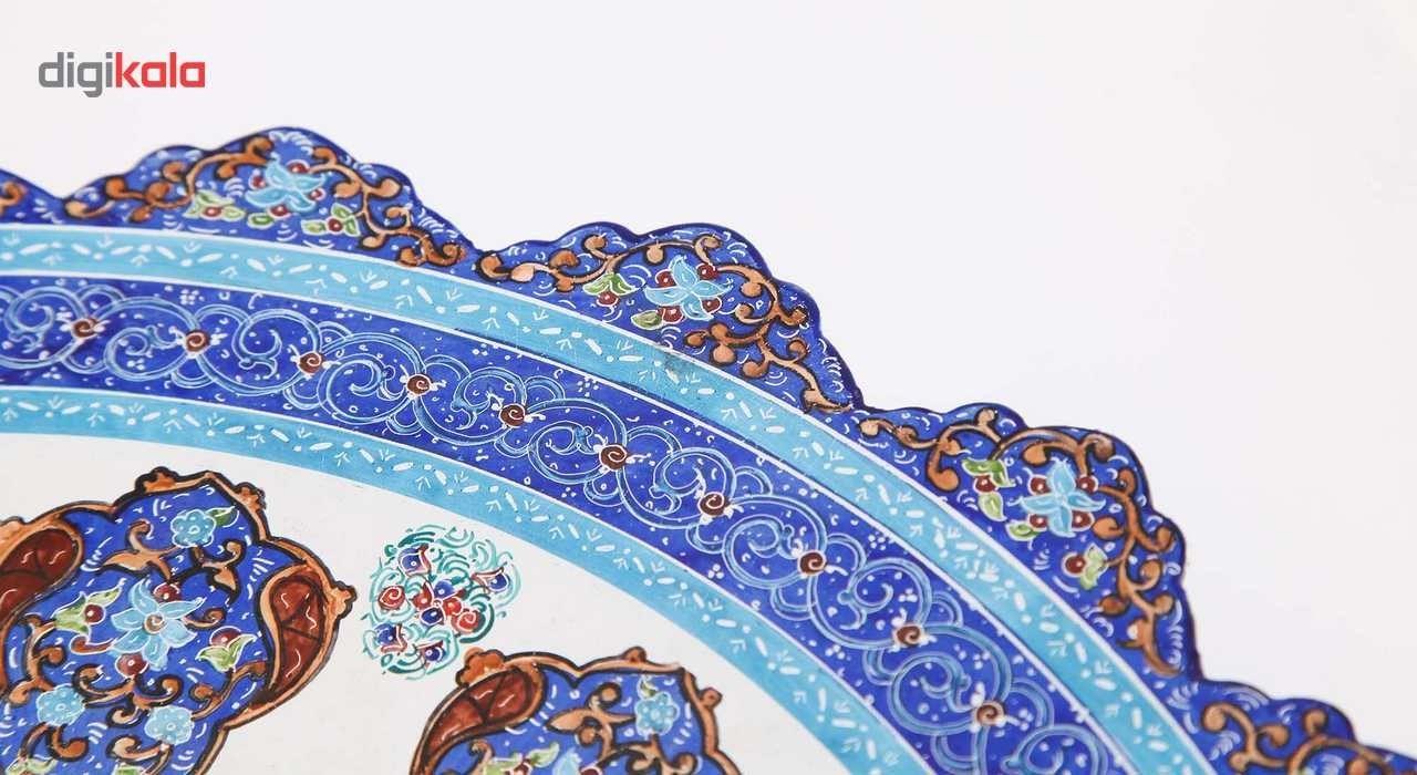بشقاب مسی میناکاری اثر ابوالقاسمی طرح ترنج کد 170182