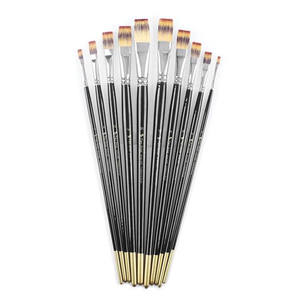 قلم مو پارس آرتیست کد 4000 مدل تخت دسته بلند ست 10 عددی