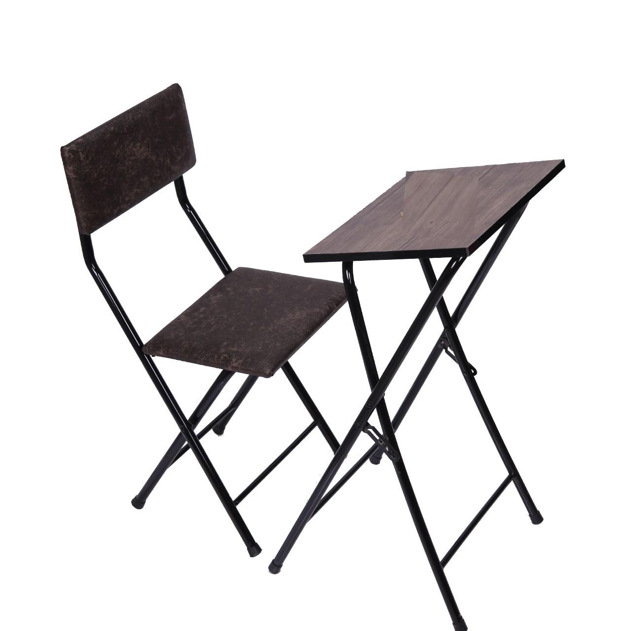 میز و صندلی نماز تاشو یاس مدل 110 قهوه ای