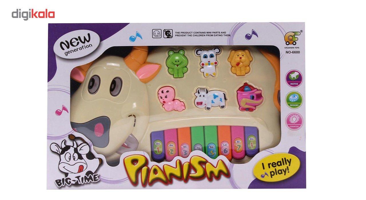 اسباب بازی آموزشی ارگ موزیکال طرح حیوانات مدل Happy Cow main 1 1
