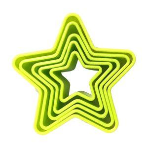 کاتر شیرینی کیک باکس مدل ستاره کد 1110 بسته 5 عددی