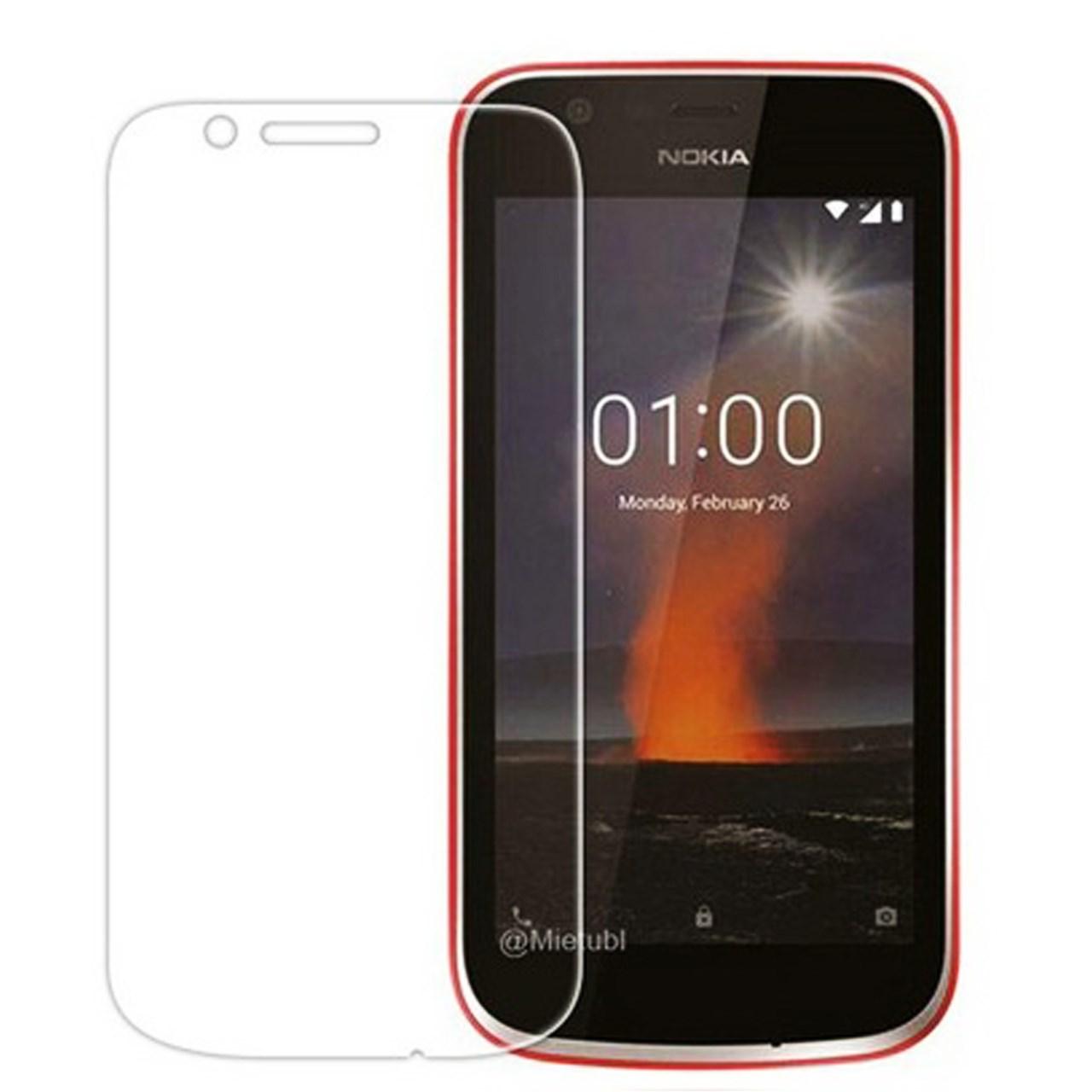 محافظ صفحه نمایش شیشه ای مدل تمپرد مناسب برای گوشی موبایل Nokia 1