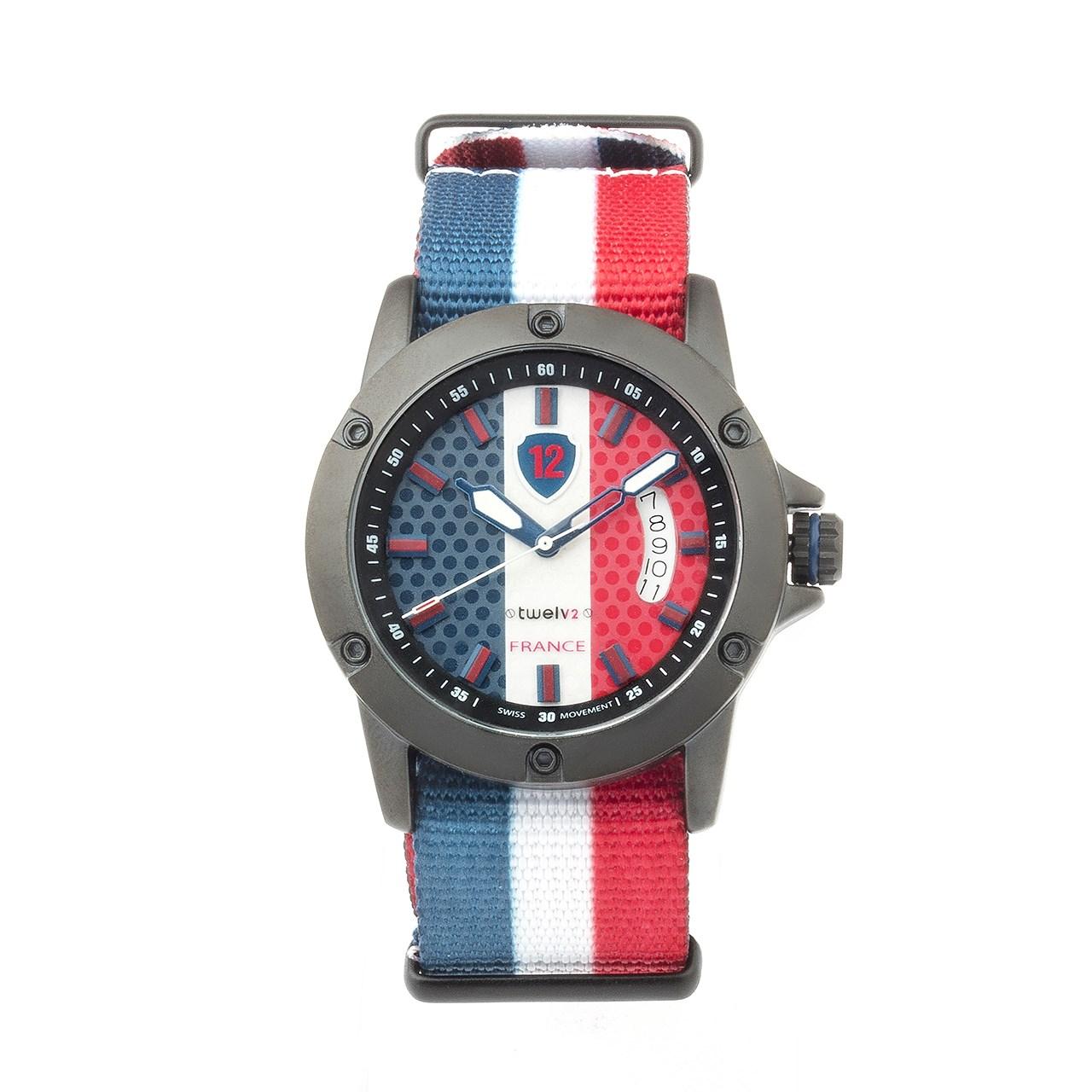 ساعت مچی عقربه ای توولو طرح پرچم فرانسه 6