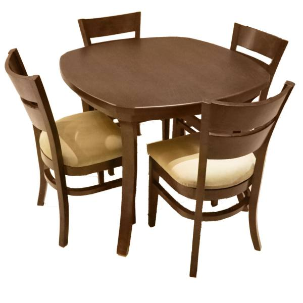 میز ناهارخوری و صندلی چوبی اسپرسان چوب مدل SM02