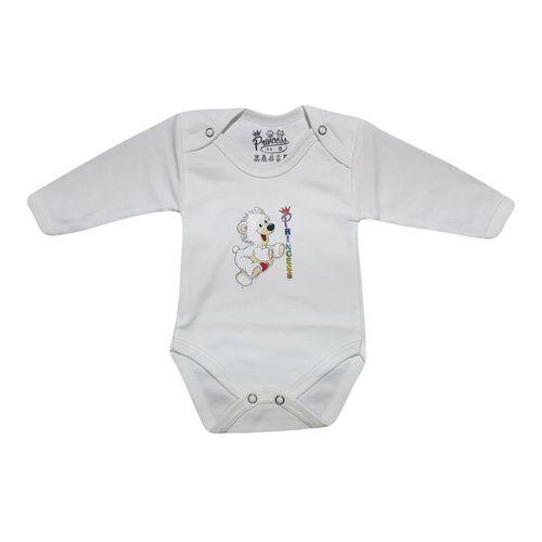 لباس زیر دکمه دار آستین بلند نوزادی برند پرنسس مدل WHITE-06