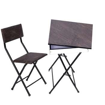 میز و صندلی تاشو تنظبم شو یاس باکس دار قهوه ای