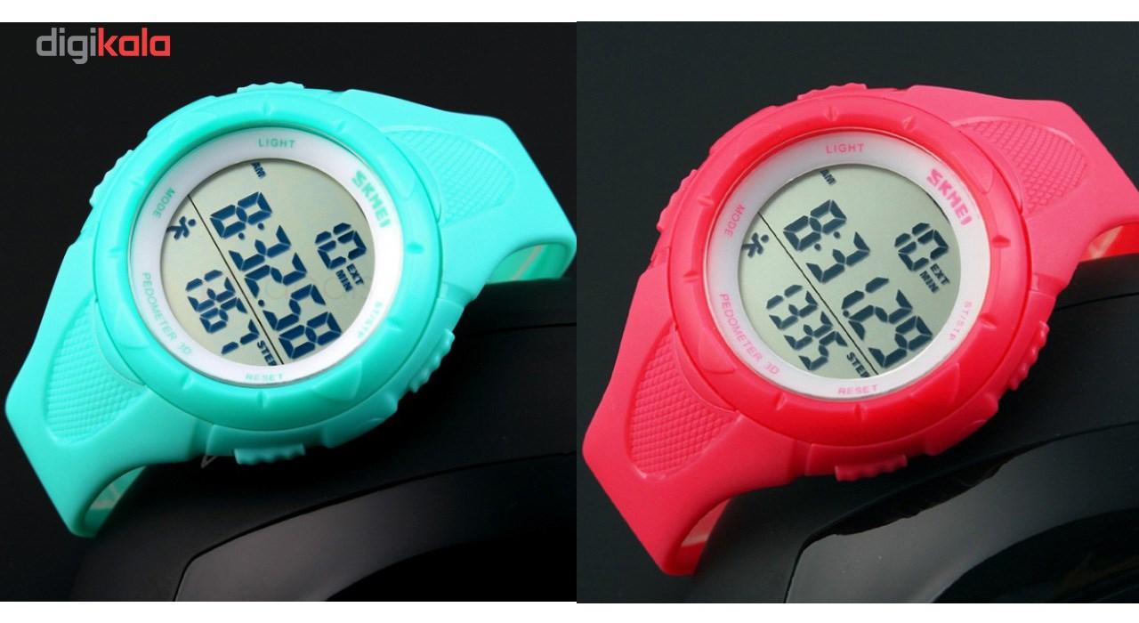 ساعت مچی دیجیتال زنانه گام شمار  اسکمی مدل 1108 ضد آب