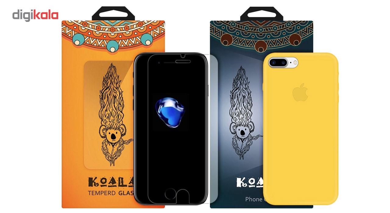 کاور کوالا مدل سیلیکونی مناسب برای گوشی موبایل اپل آیفون 7 پلاس به همراه محافظ صفحه نمایش main 1 1