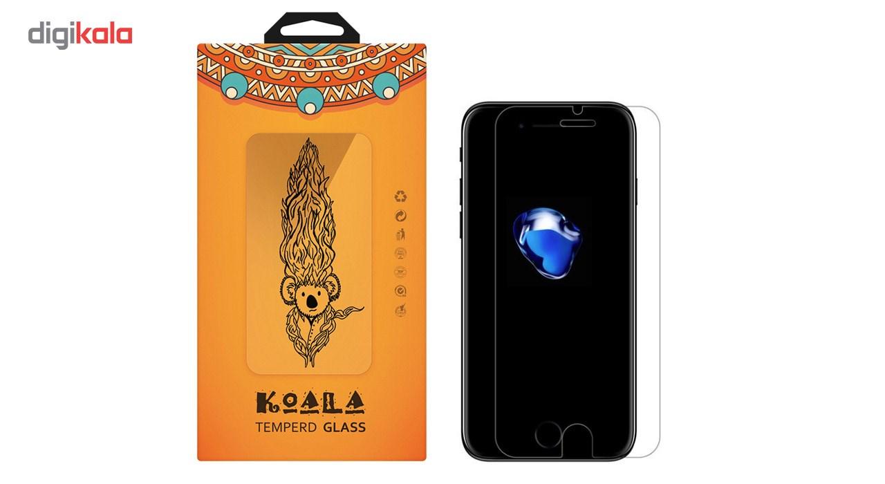 کاور کوالا مدل سیلیکونی مناسب برای گوشی موبایل اپل آیفون 7 پلاس به همراه محافظ صفحه نمایش