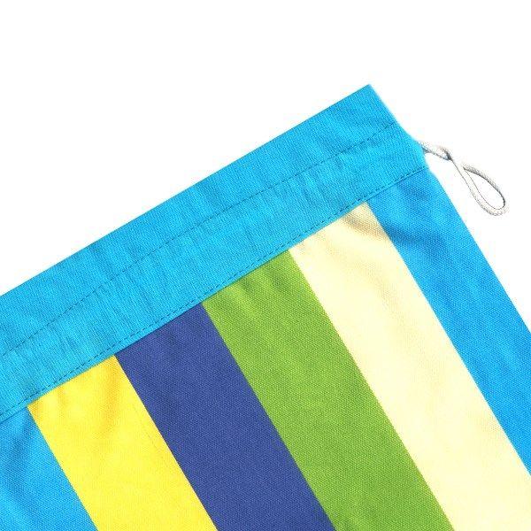 کیسه سبزی کتان 2 تکه رزین تاژ طرح رابید آبی