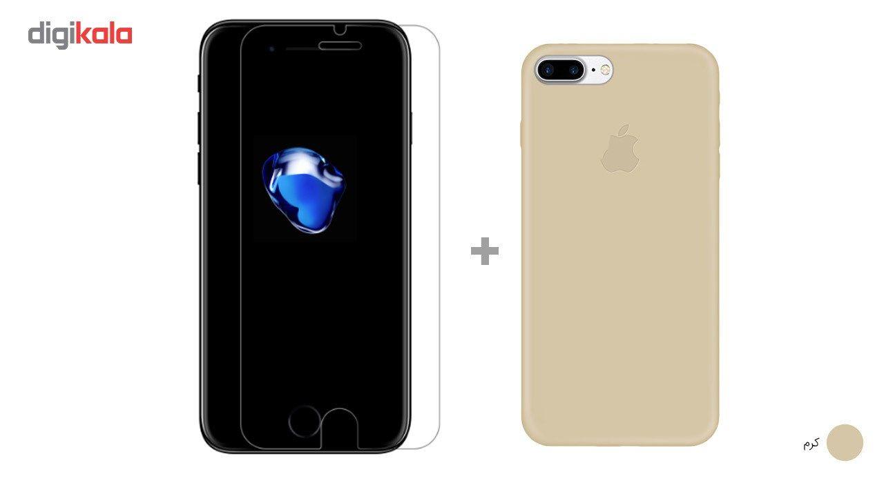کاور کوالا مدل سیلیکونی مناسب برای گوشی موبایل اپل آیفون 7 پلاس به همراه محافظ صفحه نمایش main 1 7