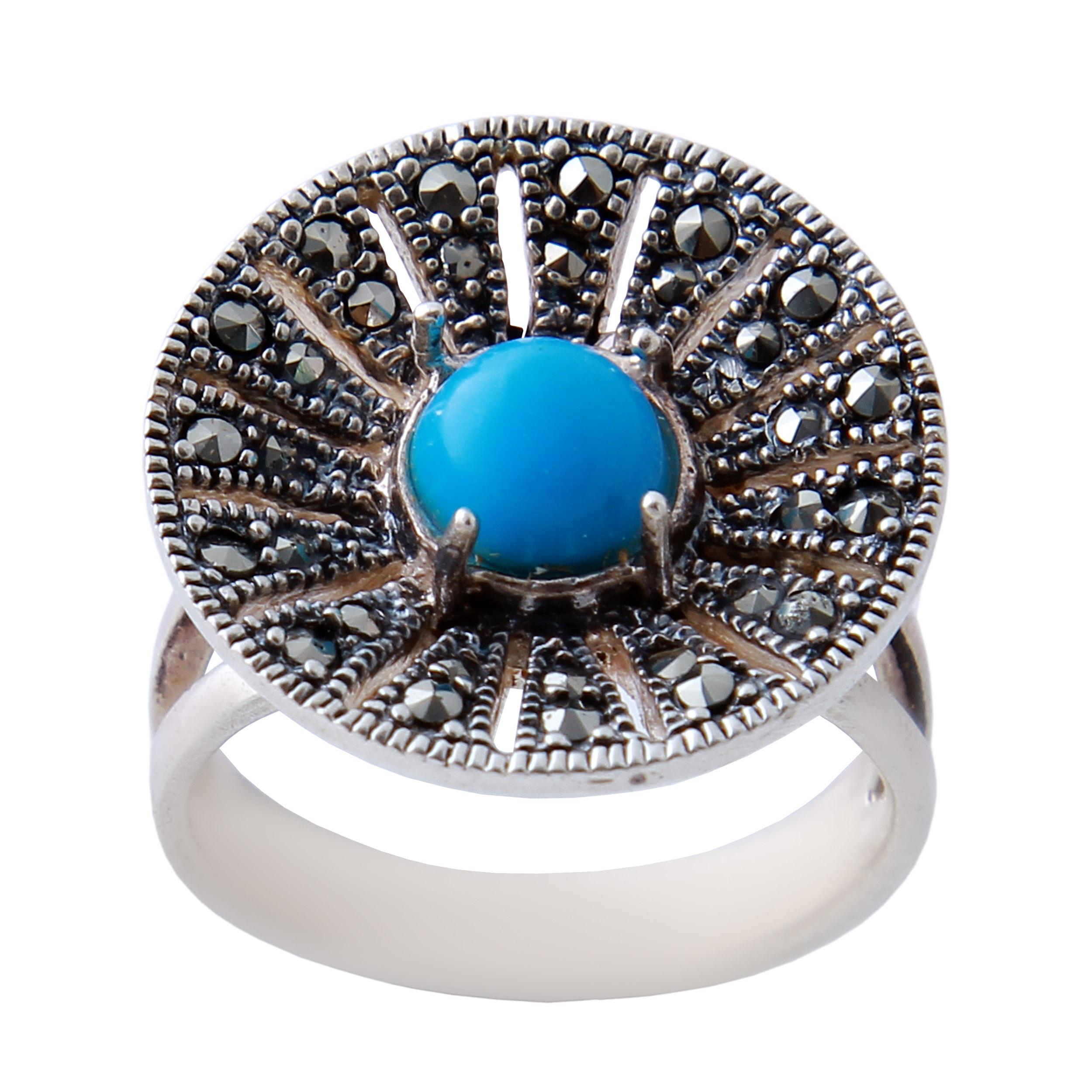 انگشتر نقره زنانه بازرگانی میلادی کد AW_349