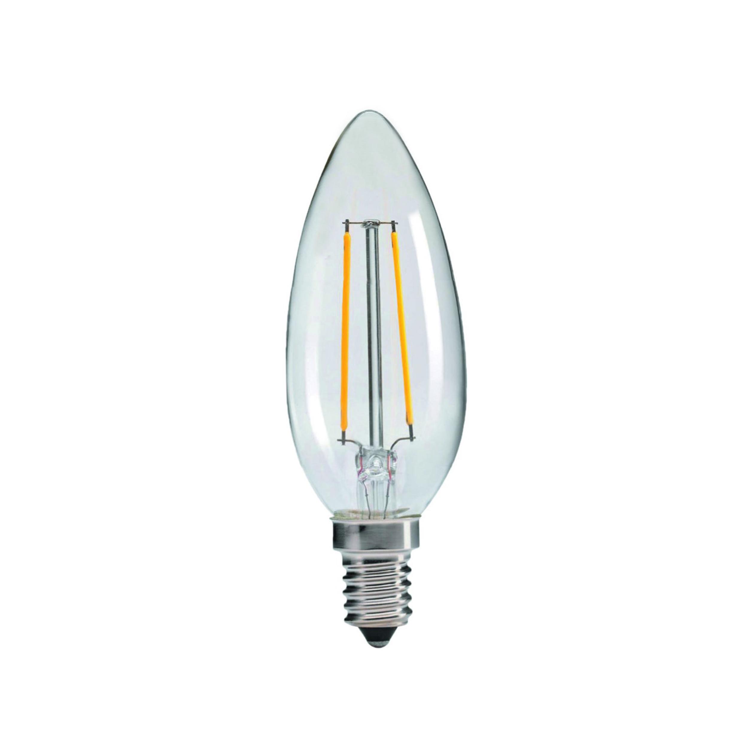 لامپ ال ای دی فیلامینتی 4 وات زک کد C35 پایهE14
