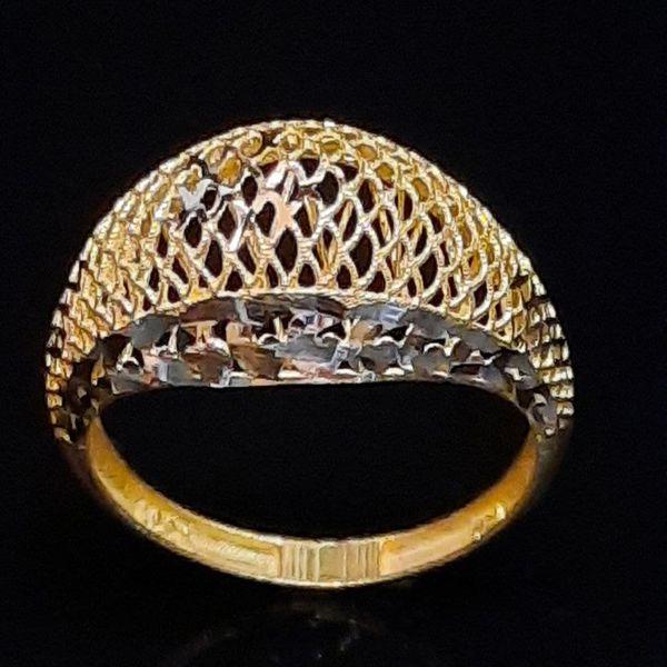 انگشتر طلا 18 عیار زنانه گالری یارطلا مدل فیوژن کد ANF31
