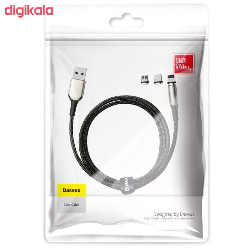 کابل تبدیل USB به USB-C / microUSB / لایتنینگ باسئوس مدل TZCAXC-G01 طول 2 متر main 1 3