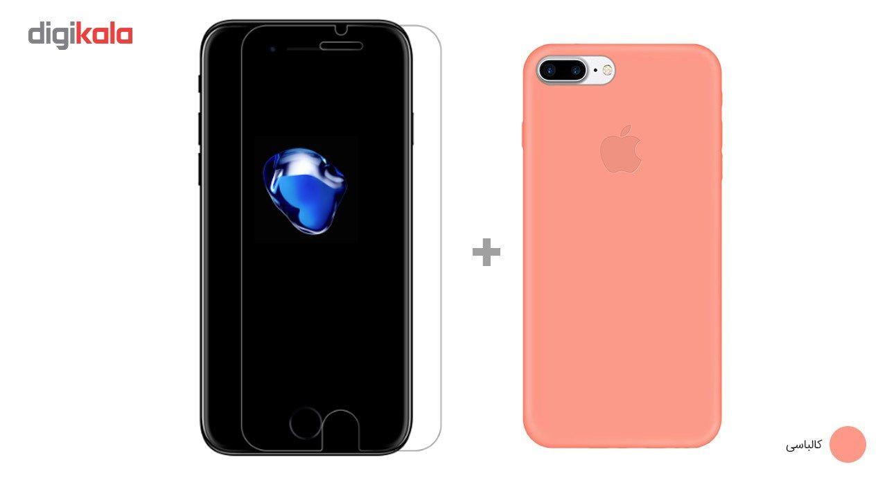 کاور کوالا مدل سیلیکونی مناسب برای گوشی موبایل اپل آیفون 7 پلاس به همراه محافظ صفحه نمایش main 1 16