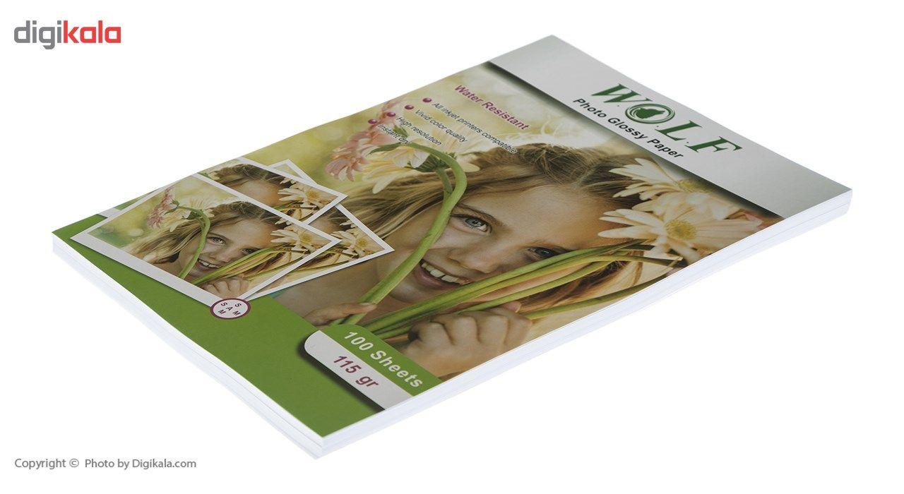 کاغذ فتو گلاسه 115 گرم  ولف سایز A4 main 1 3