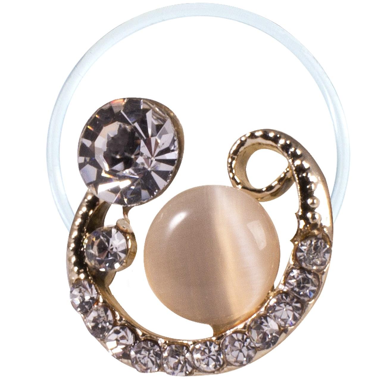 قیمت انگشتر پا طرح ماه و نگین مروارید مدل Toe Ring2
