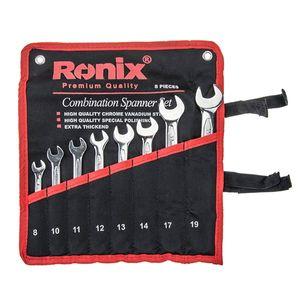 مجموعه 8 عددی آچار یکسرتخت-یکسررینگ رونیکس مدل RH-2101