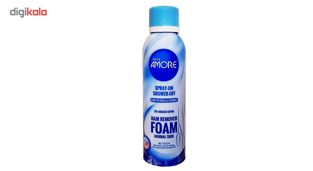 خرید                      اسپری فوم موبر بدن آمور مدل عصاره رز و وتامین E حجم 200 میلی لیتر              ✅