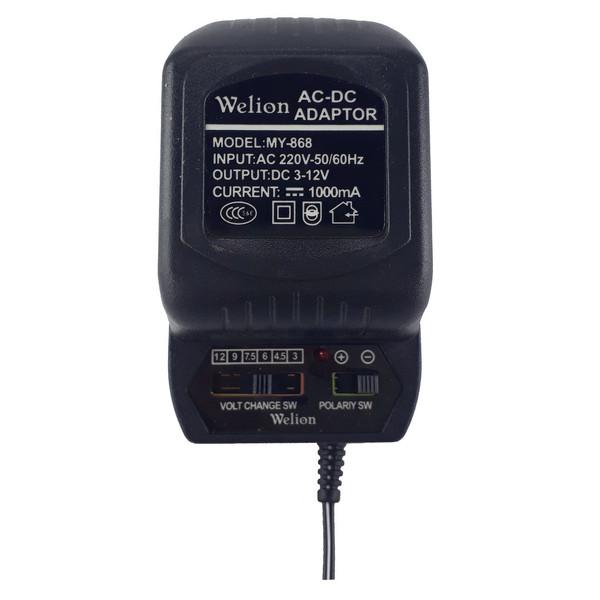 آداپتور متغیر 220 به 3 تا 12 ولت ویلیون مدل MY-868