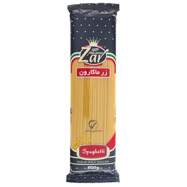 اسپاگتی قطر 1.7 زر ماکارون مقدار 500 گرم