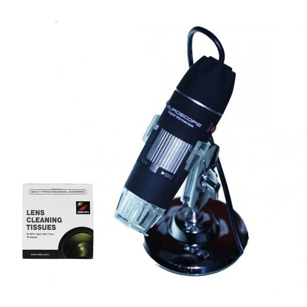 میکروسکوپ دیجیتال یورواسکوپ مدل X 500 به همراه دستمال تمیز کننده لنز