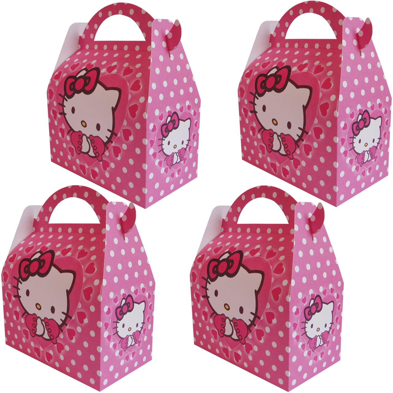 عکس جعبه کادویی طرح Hello Kitty کد 08711 بسته 4 عددی
