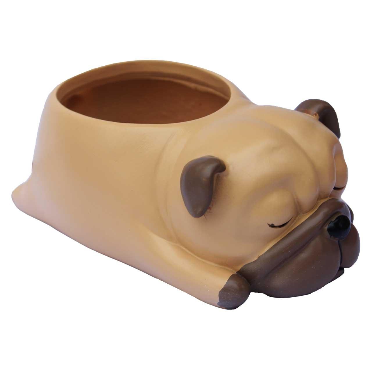 گلدان دکوگل طرح سگ قهوه ای کد DG058