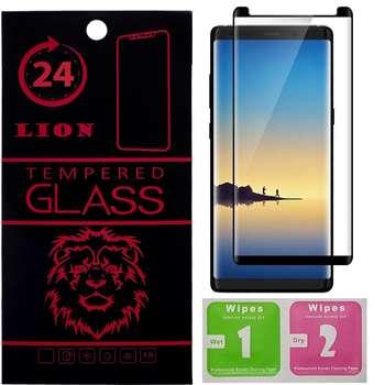 محافظ صفحه نمایش شیشه ای لاین مدل Short 3D مناسب برای گوشی سامسونگ Note 8