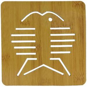 زیر قابلمه ای چوبی طرح Fish کد 13030066