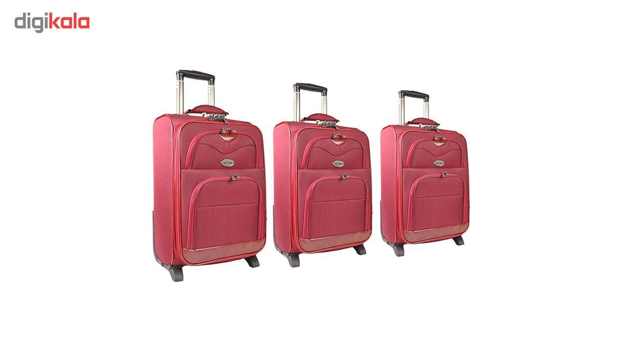 مجموعه سه عددی چمدان مدل تاپ یورو3 main 1 2