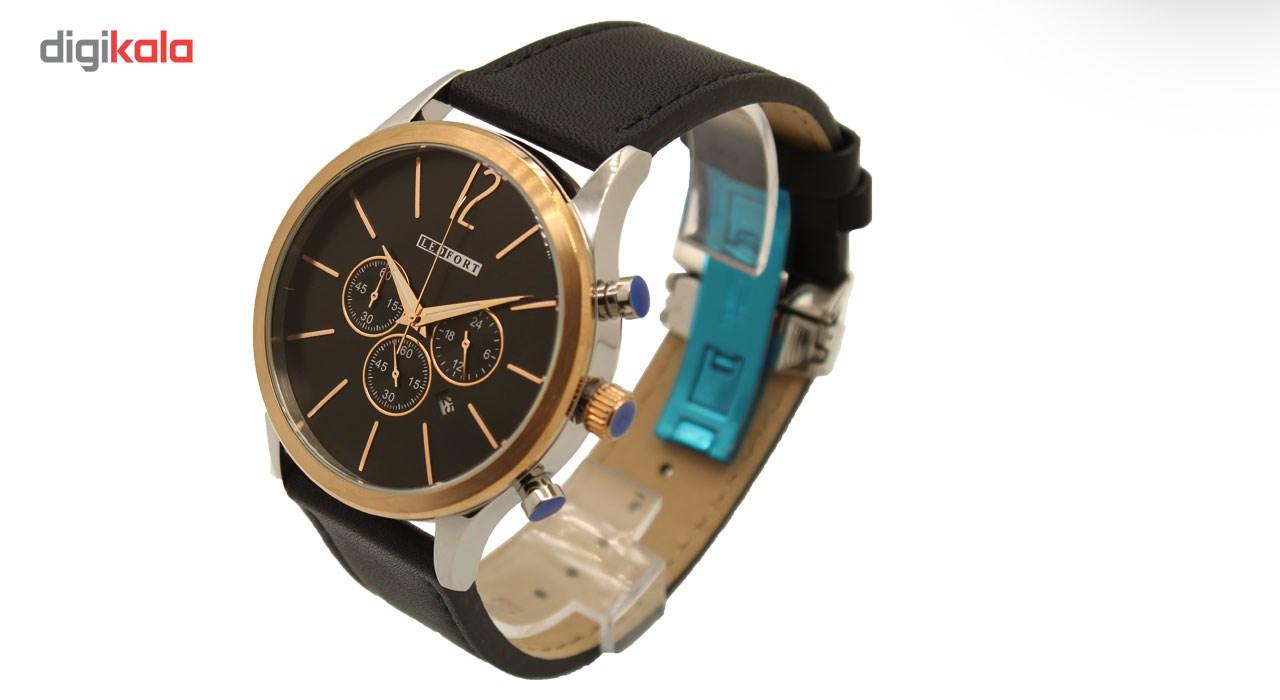 ساعت مچی عقربه ای مردانه لدفورت مدل کرنوگراف کد MK-0036