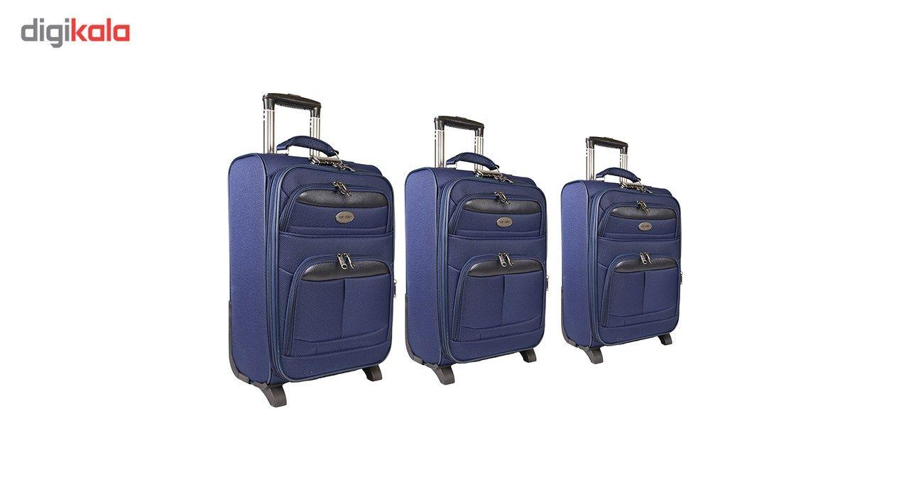 مجموعه سه عددی چمدان مدل تاپ یورو2 main 1 1