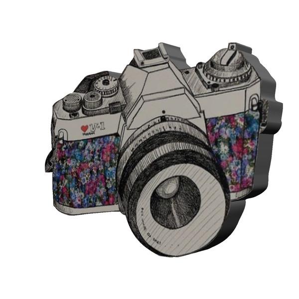استیکر چوبی  بانیبو مدل Camera01