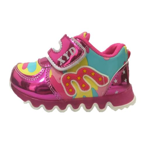 کفش مخصوص دویدن بچه گانه ایکس وای دی مدل چراغدار
