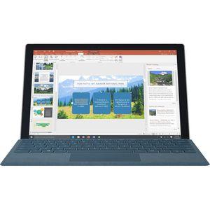 تبلت مایکروسافت مدل Surface Pro 2017 - B به همراه کیبورد سیگنیچر رنگ آبی کبالت و کیف چرم صنوبر  - ظرفیت 128 گیگابایت
